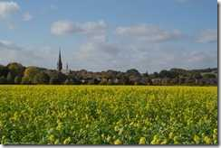 De St. Hubertus kerk in Schaephuysen (op nog geen 20 km afstand van Venlo en meteen een heel ander landschap!)